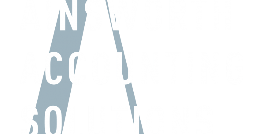 Ainsworth Accounting Solutions primary reverse logo